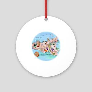sic.map-1 Round Ornament