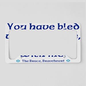 Braveheart Bruce Bleed Blue License Plate Holder