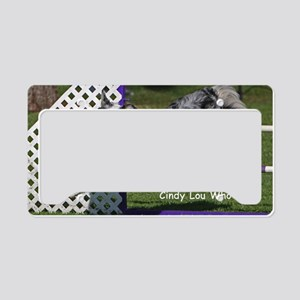 cindy lou who poster done License Plate Holder
