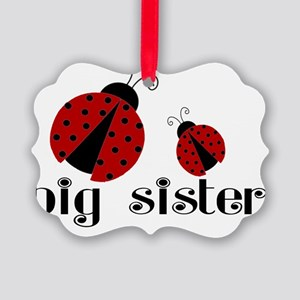 big sister lady bug Picture Ornament