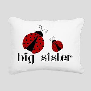 big sister lady bug Rectangular Canvas Pillow