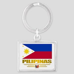 Philippines (Flag 10) 2 Landscape Keychain