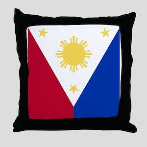 Philippine Flag (nexus s) Throw Pillow