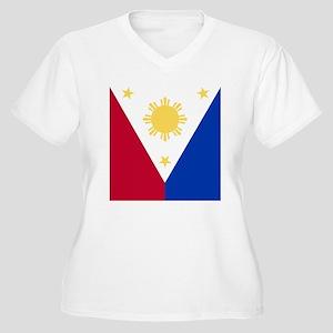 Philippine Flag ( Women's Plus Size V-Neck T-Shirt