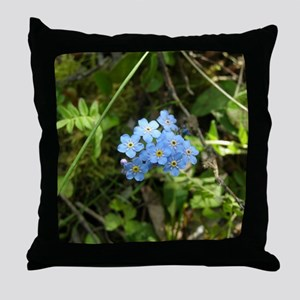 P7230069 Forgetmenot #01 Throw Pillow