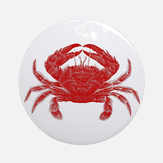 Crab Shack Art -- Ornament (Round)