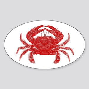 Crab Shack Art -- Oval Sticker