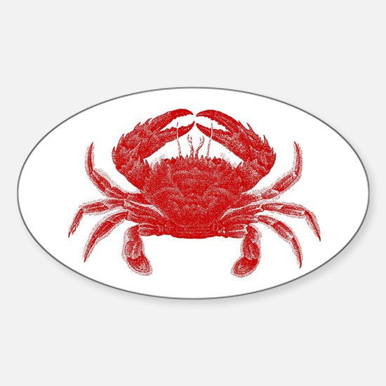 Crab Shack Art -- Oval Decal