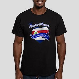 costa rica Men's Fitted T-Shirt (dark)