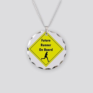 Future Runner On Board Mater Necklace Circle Charm