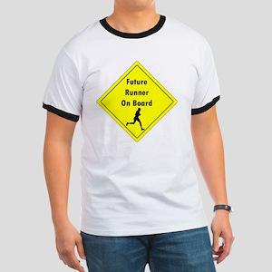 Future Runner On Board Maternity T-Shirt Ringer T