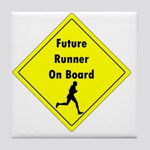Future Runner On Board Maternity T-Sh Tile Coaster