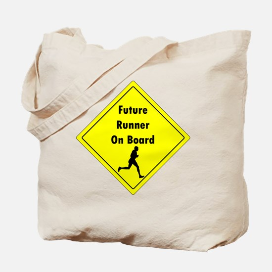 Future Runner On Board Maternity T-Shirt Tote Bag