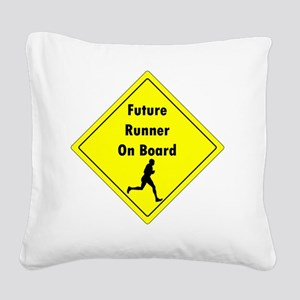 Future Runner On Board Matern Square Canvas Pillow