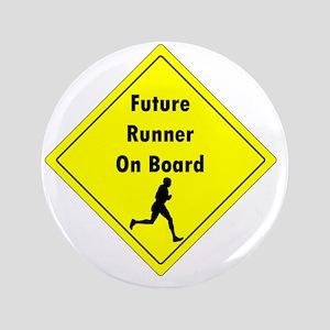 "Future Runner On Board Maternity T-Shi 3.5"" Button"
