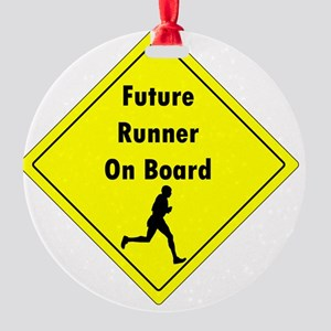 Future Runner On Board Maternity T- Round Ornament