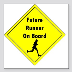 """Future Runner On Board M Square Car Magnet 3"""" x 3"""""""