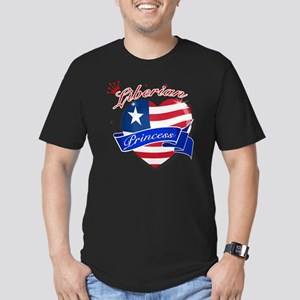 liberia Men's Fitted T-Shirt (dark)
