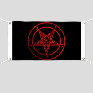Satanic Pentagram Banner