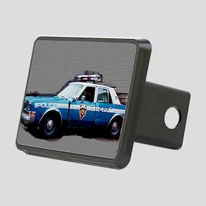 New York City Police Car 1 Rectangular Hitch Cover
