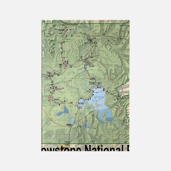 YNP_topographical_map_and_guide Rectangle Magnet