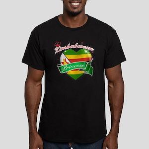 zimbabwe Men's Fitted T-Shirt (dark)