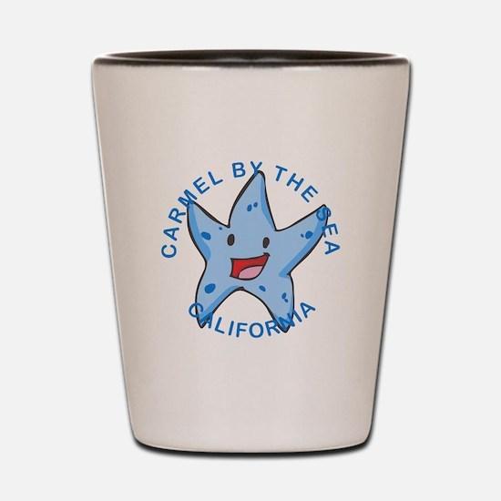 Funny Carmel beach Shot Glass