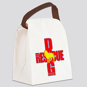 rescue dog 03 Canvas Lunch Bag