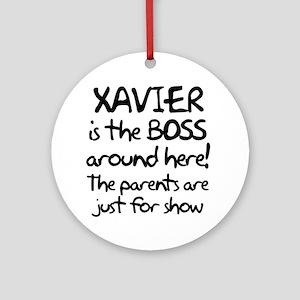 boss_xavier Round Ornament