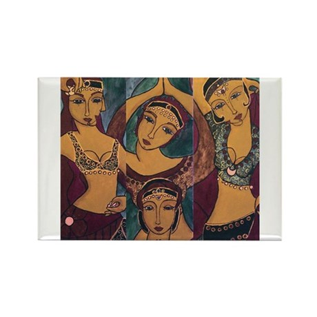 Sisters In Dance Rectangle Magnet (10 pack)