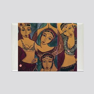 Sisters In Dance Rectangle Magnet