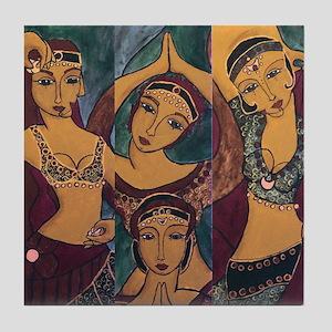 Sisters In Dance Tile Coaster