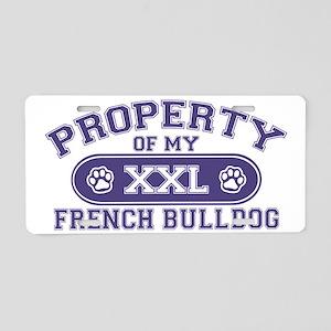 frenchbulldogproperty Aluminum License Plate