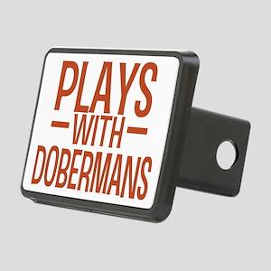 playsdobermans Rectangular Hitch Cover
