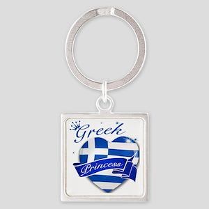 greece Square Keychain
