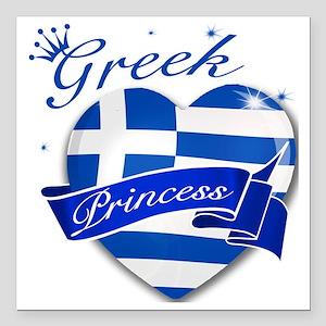 "greece Square Car Magnet 3"" x 3"""