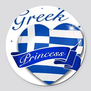 greece Round Car Magnet