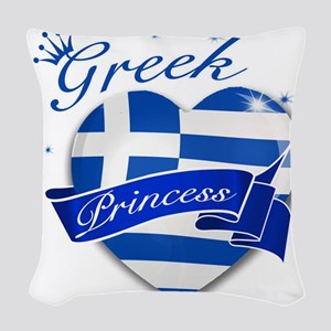 greece Woven Throw Pillow