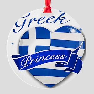 greece Round Ornament