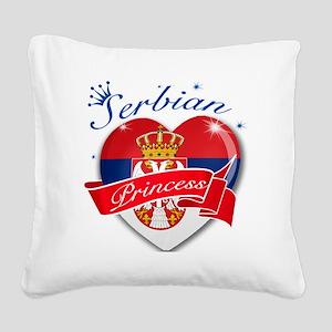 serbia Square Canvas Pillow