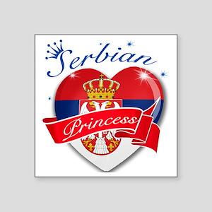 """serbia Square Sticker 3"""" x 3"""""""