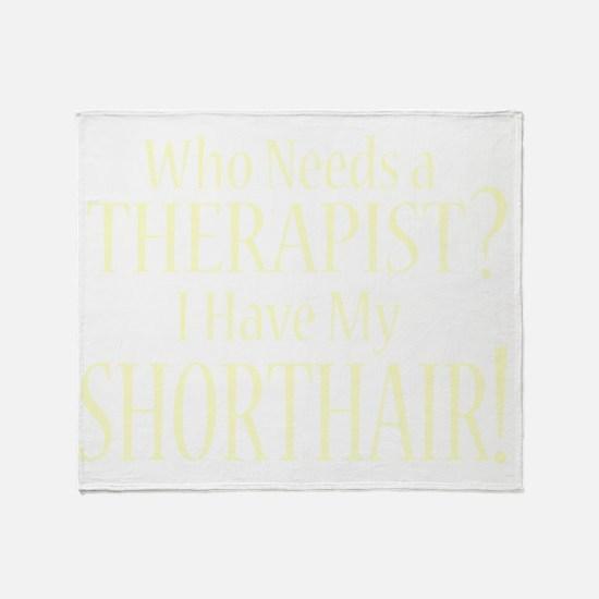 therapistgermanshorthairedpointer_bl Throw Blanket