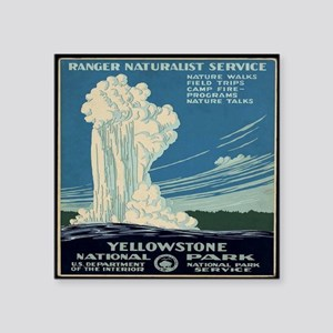 "yellowstone-national-park_p Square Sticker 3"" x 3"""