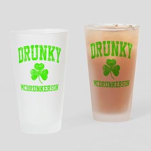 Green Drunky Drinking Glass