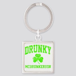 Green Drunky Square Keychain