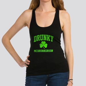 Green Drunky Racerback Tank Top
