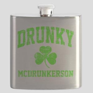 Green Drunky Flask