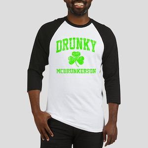 Green Drunky Baseball Jersey