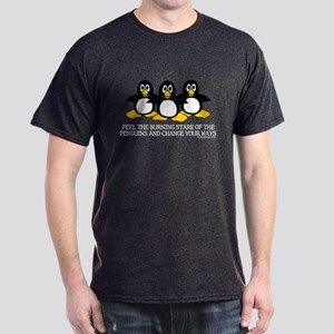 Burning Stare Penguins Dark T-Shirt
