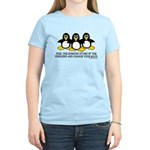 Burning Stare Penguins Women's Light T-Shirt